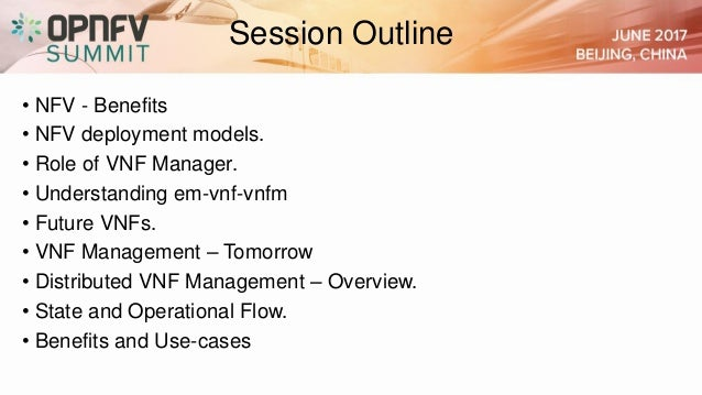 Distributed vnf management  architecture and use-cases Slide 3