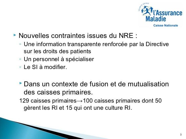 2011 - L'impact de la loi applicable sur l'Assurance Maladie française Slide 3