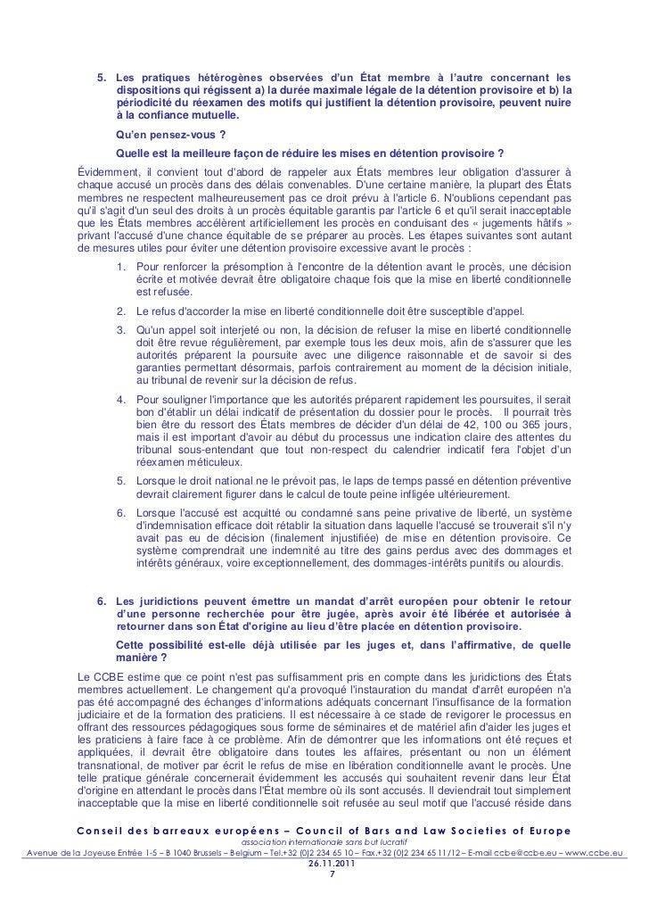 5. Les pratiques hétérogènes observées d'un État membre à l'autre concernant les                    dispositions qui régis...