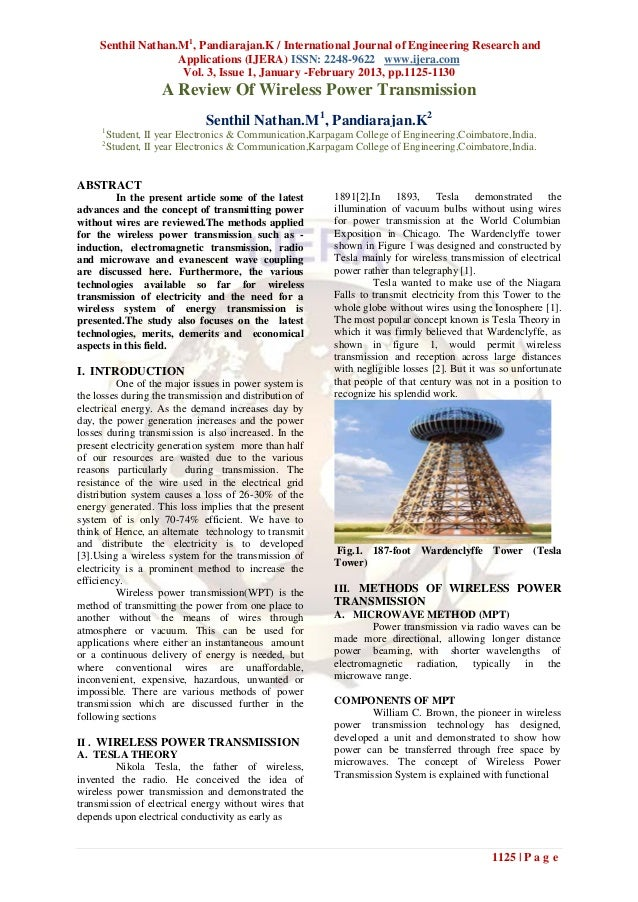 Senthil Nathan.M1, Pandiarajan.K / International Journal of Engineering Research and                    Applications (IJER...
