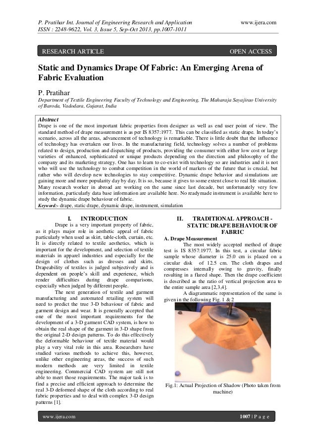 P. Pratihar Int. Journal of Engineering Research and Application ISSN : 2248-9622, Vol. 3, Issue 5, Sep-Oct 2013, pp.1007-...