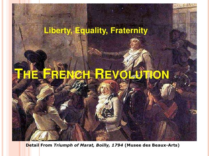 Liberty, Equality, FraternityTHE FRENCH REVOLUTION Detail From Triumph of Marat, Boilly, 1794 (Musee des Beaux-Arts)