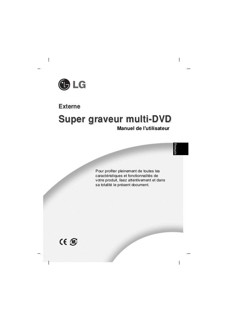 ExterneSuper graveur multi-DVD                       Manuel de lutilisateur                                               ...