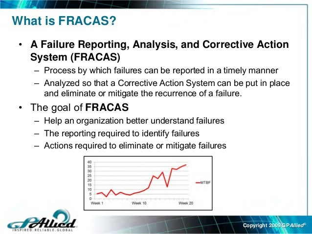 Failure Reporting Analysis Corrective Action System - Fracas report template