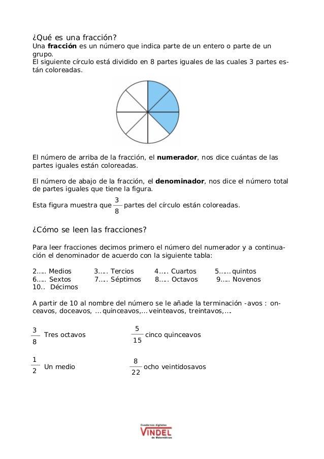 ¿Qué es una fracción? Una fracción es un número que indica parte de un entero o parte de un grupo. El siguiente círculo es...