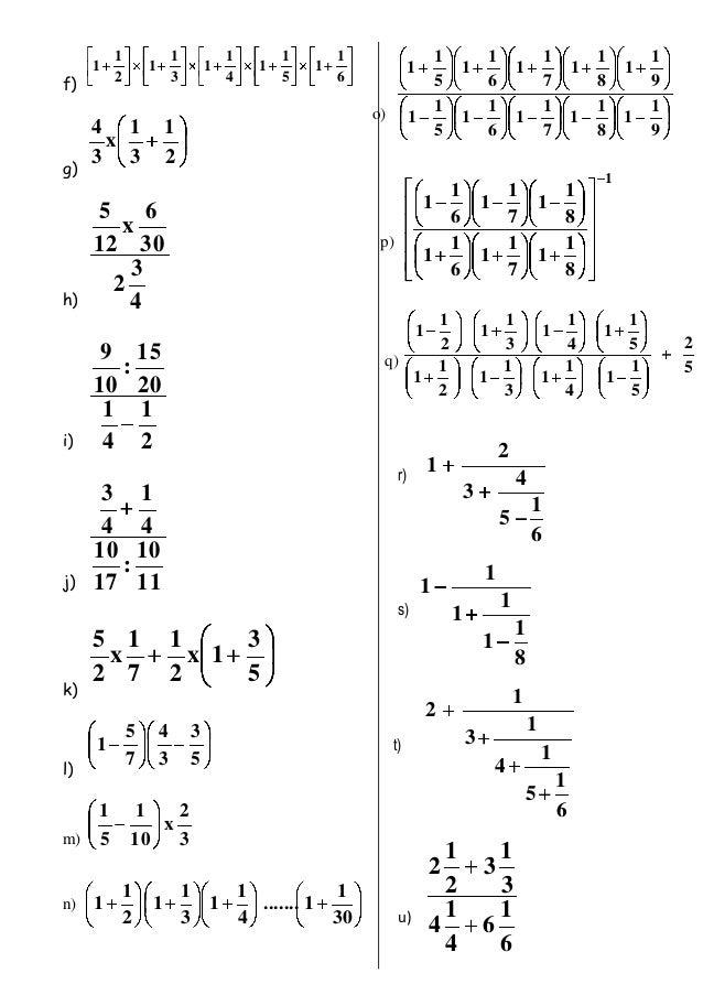 Fracciones 3 Multiplicacion División Potenciacion Y Radicacion
