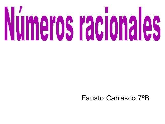 Fausto Carrasco 7ºB