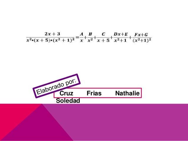 Integración por fracciones parciales