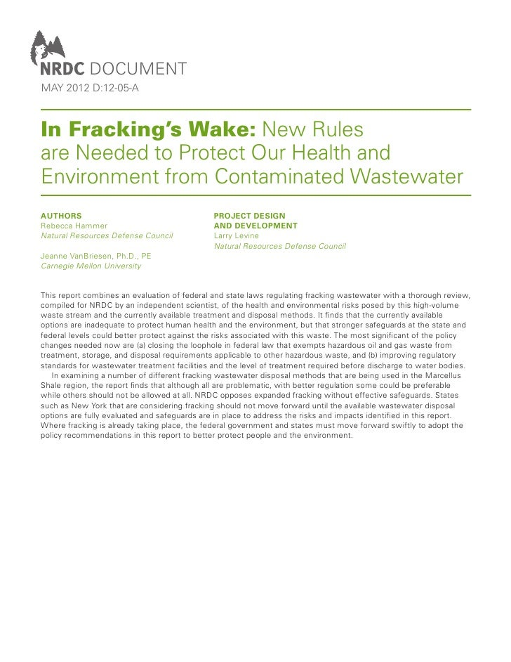 documentmay 2012 d:12-05-AIn Fracking's Wake: New Rulesare Needed to Protect Our Health andEnvironment from Contaminated W...