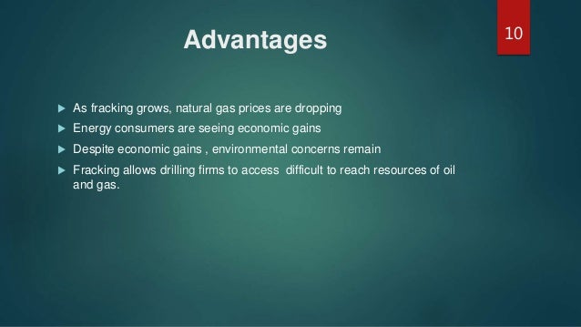 Disadvantages Of Natural Gas >> Fracking technology