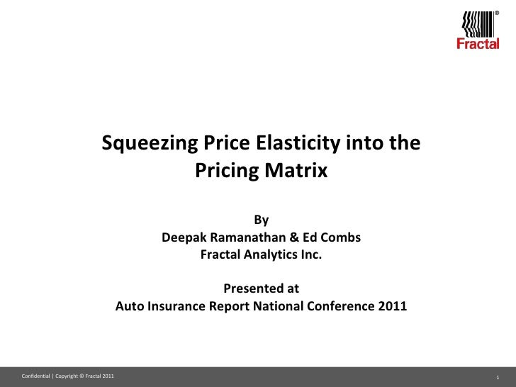 ®                                 Squeezing Price Elasticity into the                                          Pricing Mat...