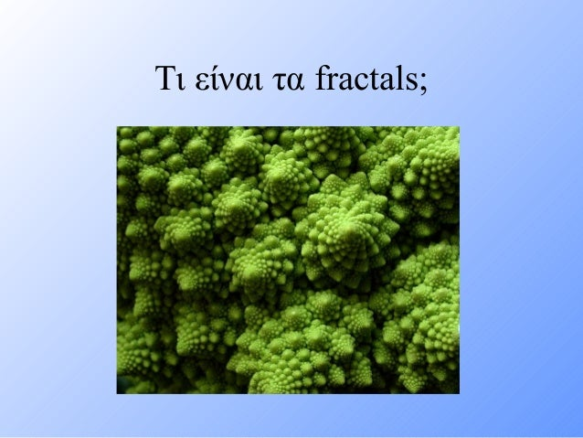 Τι είναι τα fractals;