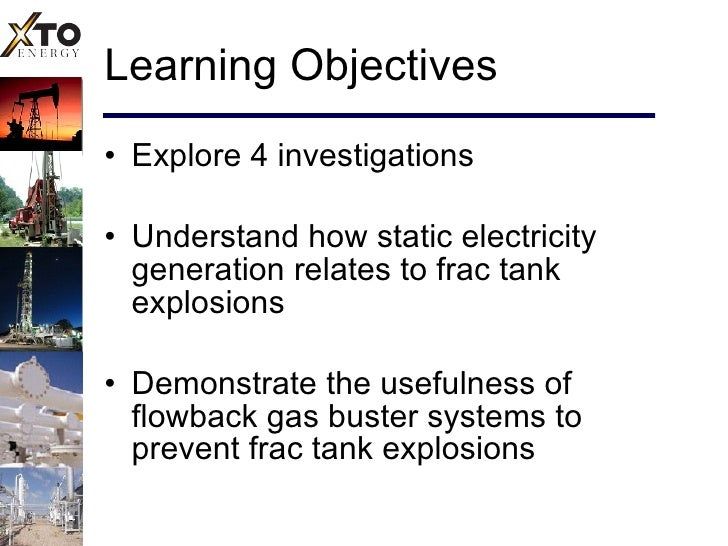Frac Tank Explosion Steps