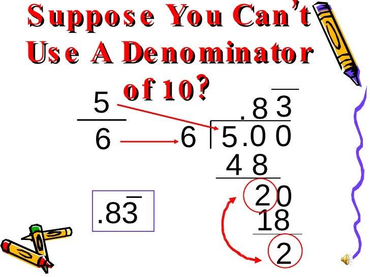 Fraction To Decimal