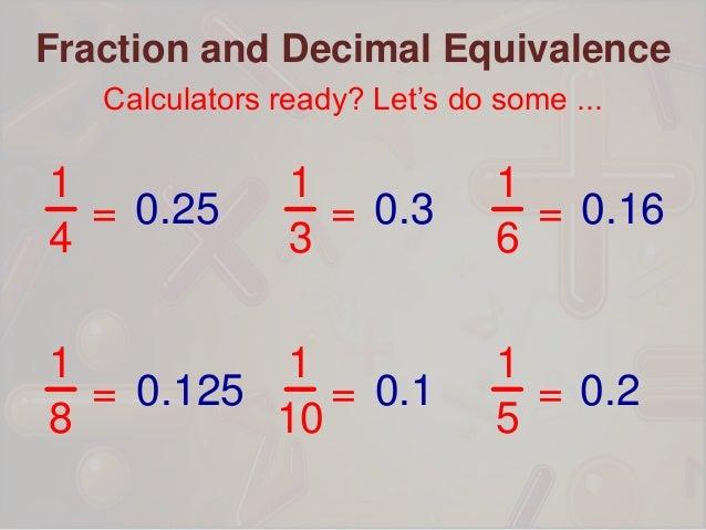 Fraction decimal equivalence