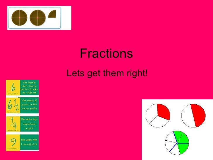 Fractions Lets get them right!