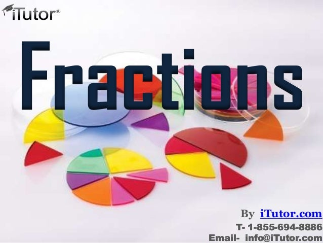 Fractions By iTutor.com T- 1-855-694-8886 Email- info@iTutor.com