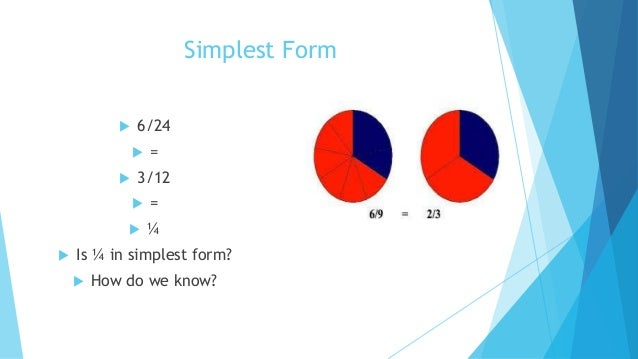 simplest form 6/24  Fractions