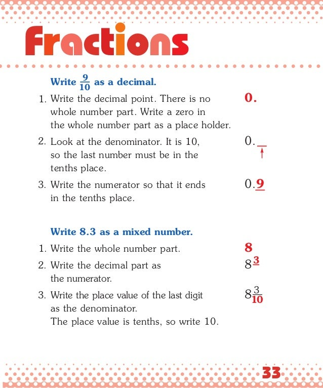 32 Decimals and; 35.  sc 1 st  SlideShare & Fractions and decimals made easy