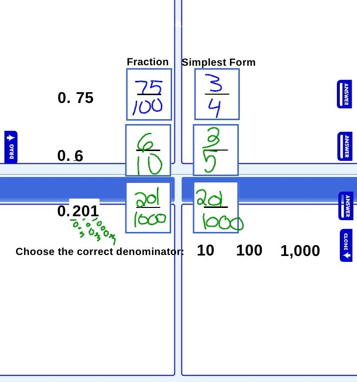 Fractions And Decimals More Practice 12 09 Hex