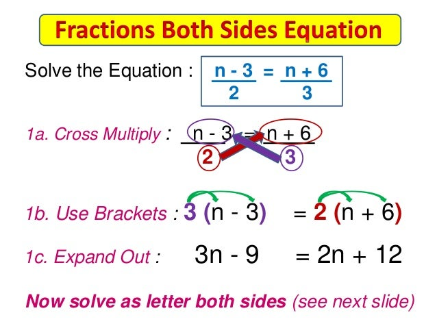 Free Worksheets solve equations with variables on both sides worksheet : Equations with Fractions on Both Sides