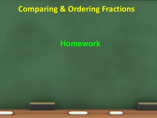 Ordering fractions homework year 4