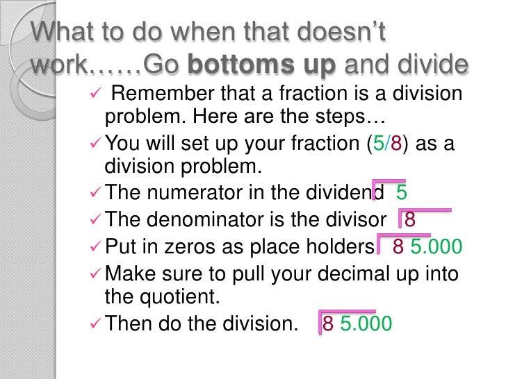 Fractions & decimals