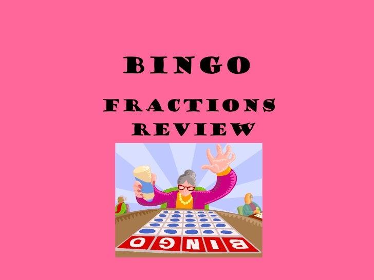 BINGO Fractions  Review