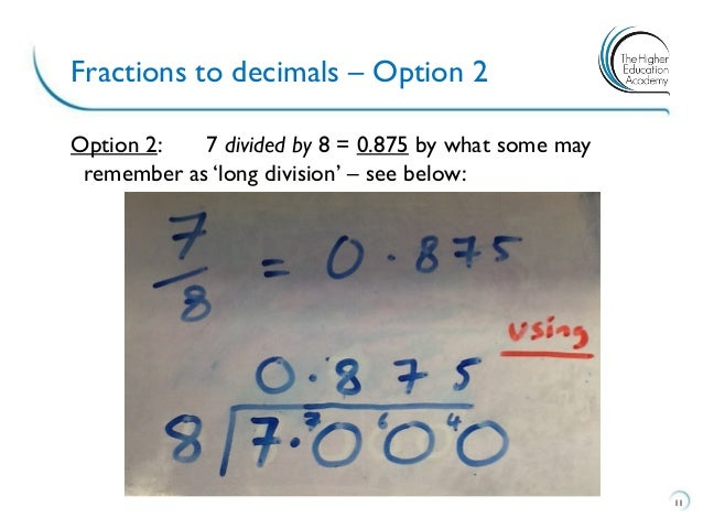 a divided by b_Fractions to decimals