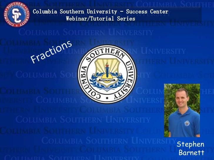 Stephen Barnett<br />Fractions<br />