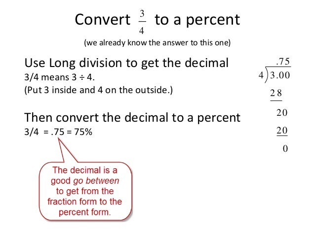 Fraction to Percent Conversion