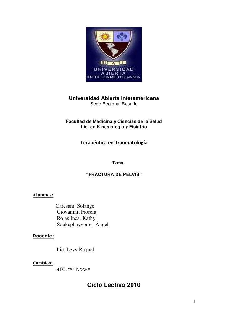 Universidad Abierta Interamericana<br />Sede Regional Rosario<br />Facultad de Medicina y Ciencias de la Salud<br />Lic. e...