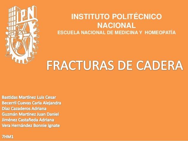 INSTITUTO POLITÉCNICONACIONALESCUELA NACIONAL DE MEDICINA Y HOMEOPATÍA