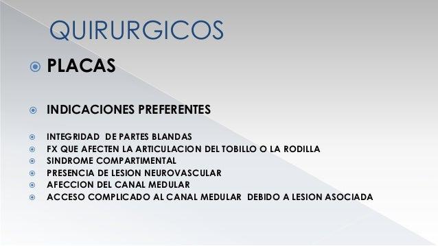 QUIRURGICOS  PLACA  CONTRAINDICACIONES RELATIVAS  FX DIAFISARIAS DESPLAZADAS  FX ABIERTAS MUY CONTAMINADAS