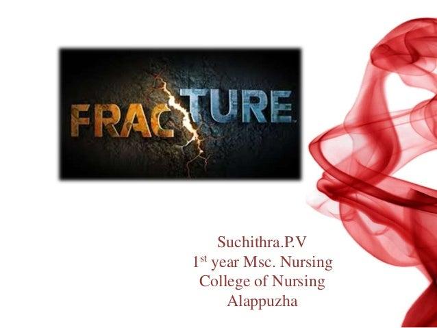 Fracture Suchithra.P.V 1st year Msc. Nursing College of Nursing Alappuzha