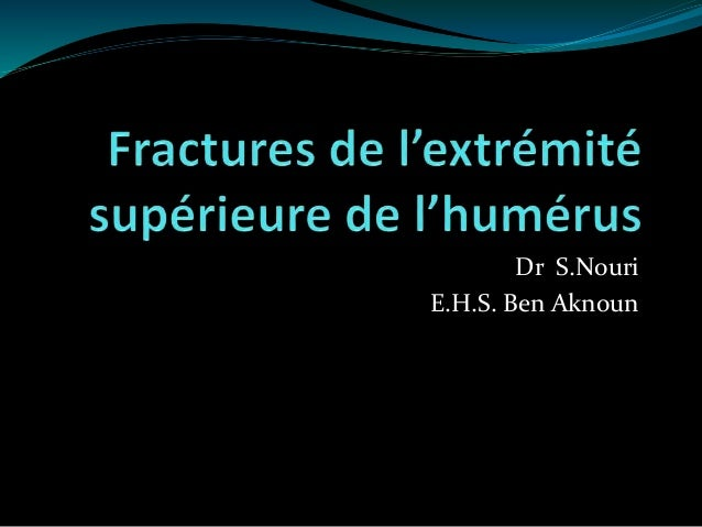 Dr S.Nouri E.H.S. Ben Aknoun