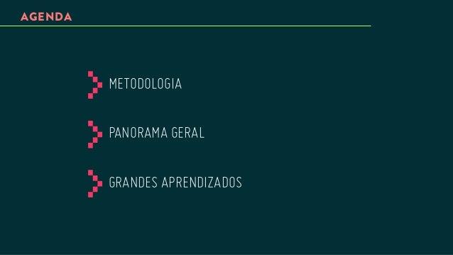 AGENDA  METODOLOGIA PANORAMA GERAL GRANDES APRENDIZADOS