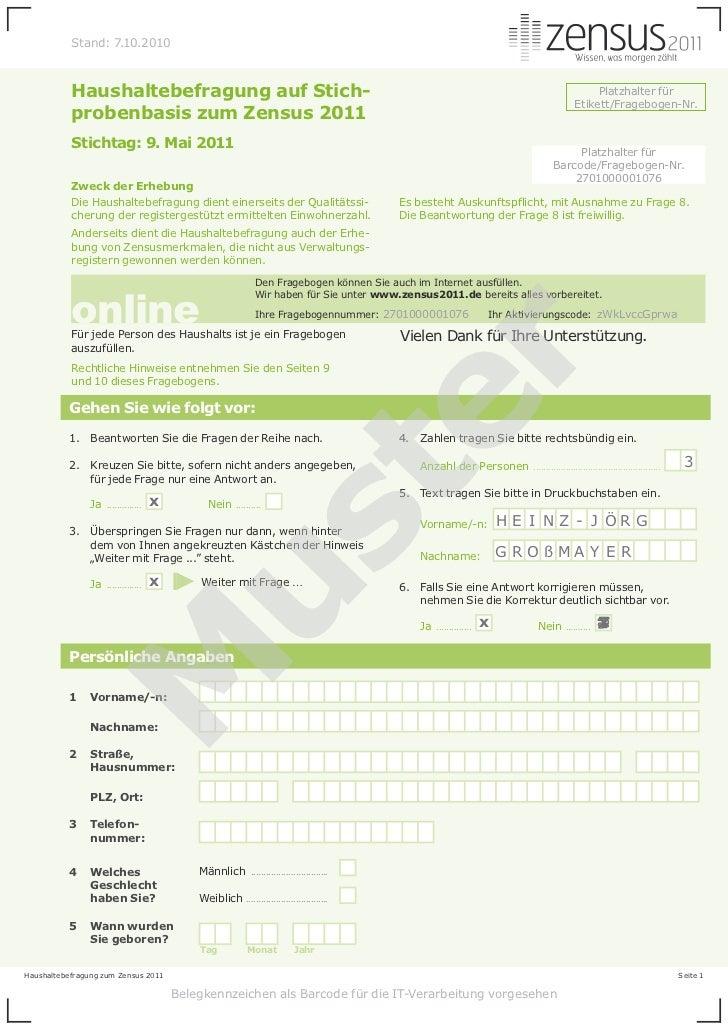 Stand: 7.10.2010           Haushaltebefragung auf Stich-                                                                  ...