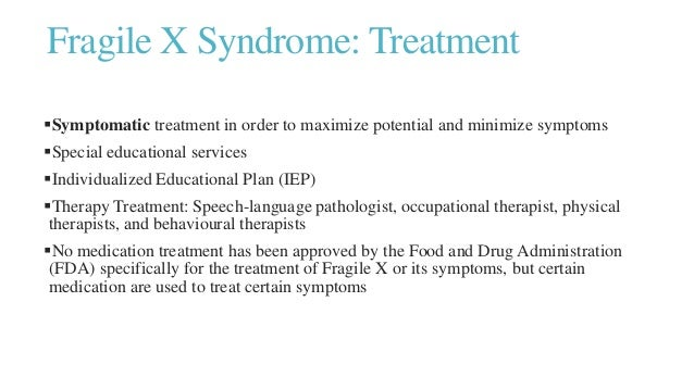 a study on fragile x syndrome A collection of disease information resources and questions answered by our genetic and rare diseases information specialists for fragile x syndrome.