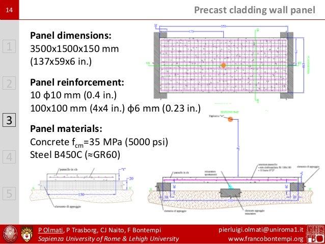 Blast Resistance Of Reinforced Precast Concrete Walls
