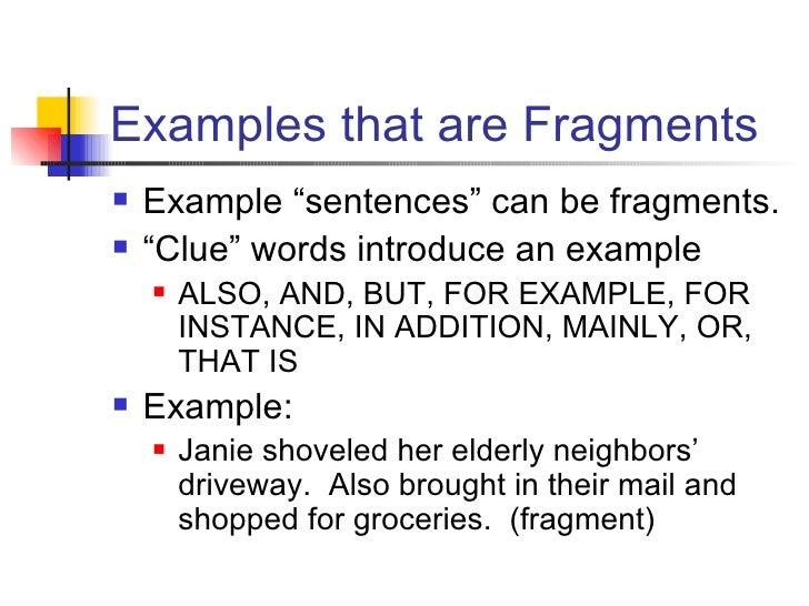Fragments Notes 2 Powerpoint
