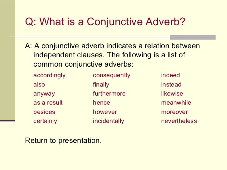 40+ Conjunctive Adverbs List in English for ESL Learners ... |List Of Conjunctive Adverbs