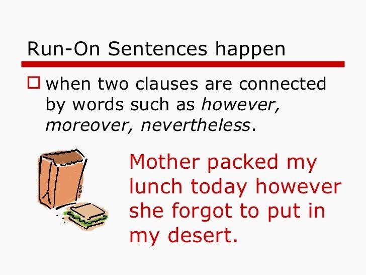 sentences  fragments  run