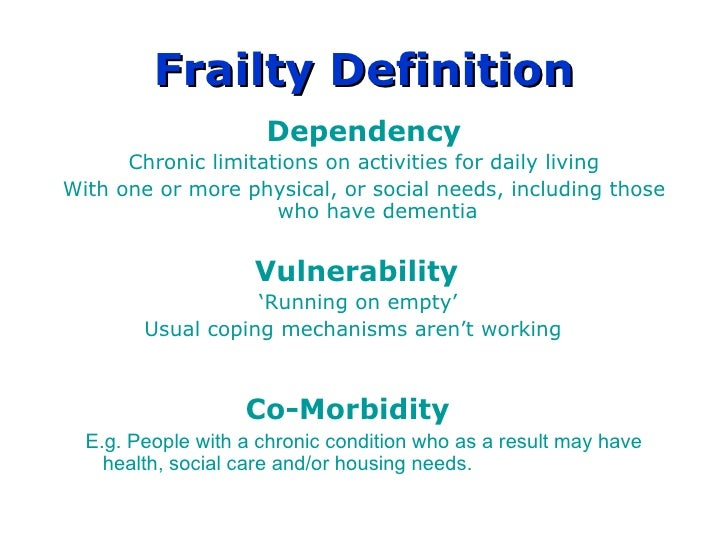 Gwent Frailty Project