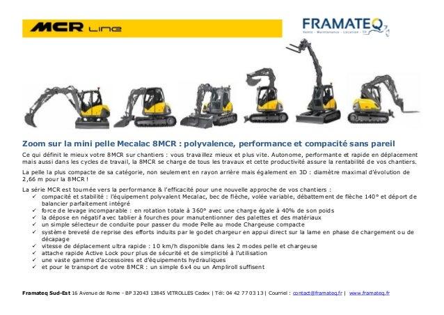 Framateq Sud-Est 16 Avenue de Rome - BP 32043 13845 VITROLLES Cedex | Tél: 04 42 77 03 13 | Courriel : contact@framateq.fr...