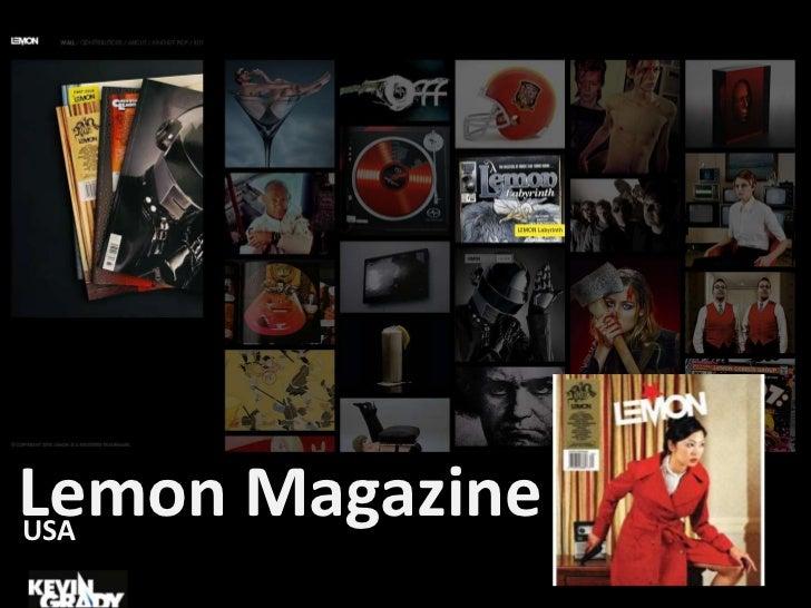 Lemon Magazine<br />USA<br />
