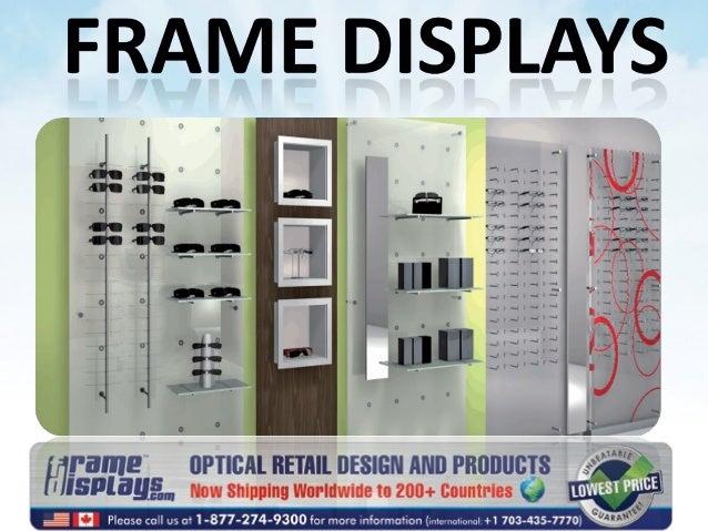 Optical Displays, Optical Frame Displays, Wall Mount