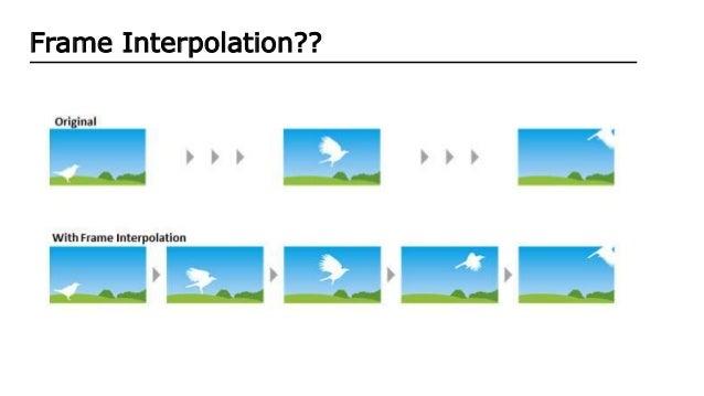Latest Frame interpolation Algorithms