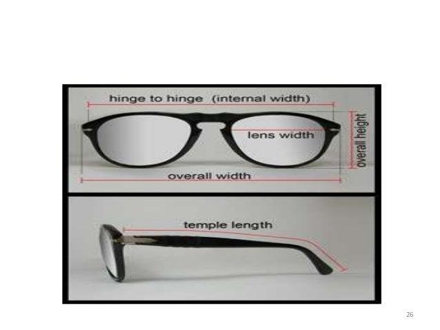 Eyeglass Frame Size Markings : Frame measurement & marking