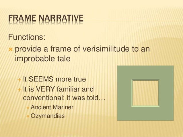 Narrative framing devices in Frankenstein